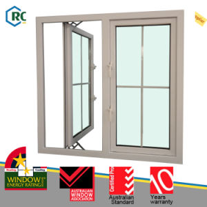 PVC Large Glass Windows Doors, Safety Window Grill Design pictures & photos