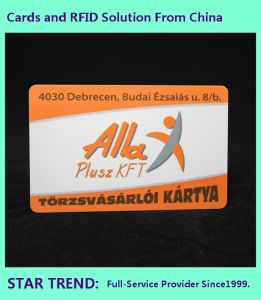 Spot Varnished PVC Card with Magnetic Stripe for Gym Club pictures & photos