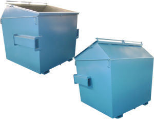Outdoor Steel Recycle Mobile Square Fork Lift Bin Skip Bin pictures & photos