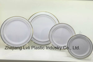 Plastic Plate, Disposable, Tableware, Tray, Dish, Colorful, PS, SGS, Hot Stamp Plate, PA-03 pictures & photos
