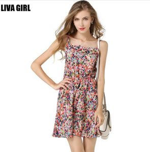 2017 Fashion Styles Gril′s Sleeveless Printed Dresses (17017) pictures & photos