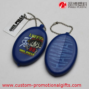 Wholesale Oval Silicone Coin Purse with Key Chain
