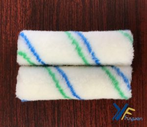 Fy 4′′ Polyester Mini Green-Blue Stripe Paint Roller pictures & photos