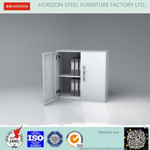 Two Swinging Steel Doors High Storage Cabinet Office Furniture with Replaceable Steel Cam Lock/File Cabinet pictures & photos