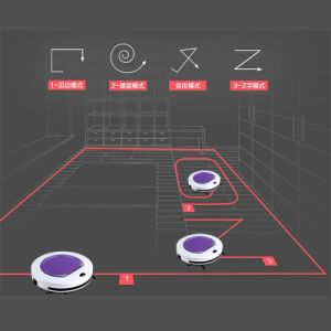 No LCD Intelligent Robot Vacuum Cleaner for Home, Auto Charge & Clean, HEPA Filter, UV Lamp, Sensor, Cleaning Smart Vacuum Cleaner pictures & photos