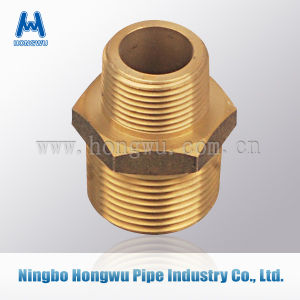 Male Coupler Brass Nipple Tube Fitting pictures & photos