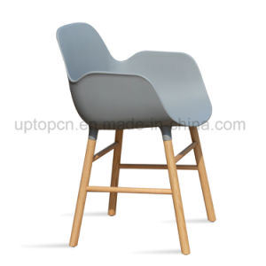 Wholesale Plastic Chair with Solid Wood Legs for Restaurant Used (SP-UC535) pictures & photos