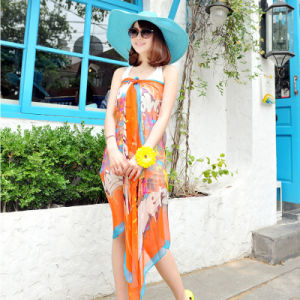 The New Polyester Chiffon Scarf Beach Dress Yellow pictures & photos