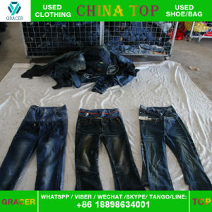 Dubai Style Door to Door Used Jeans Used Clothing Export pictures & photos