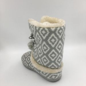 Lds Multi Knit Warm Indoor Slipper pictures & photos