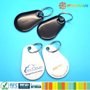 Custom HF passive 13.56MHz ISO14443A NTAG216 Epoxy NFC Key Tag pictures & photos