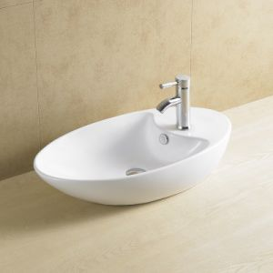 Oval High Quality Bathroom Porcelain Basin 8041 pictures & photos