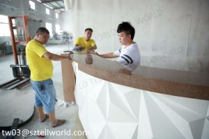 Dimand Customzied Color Commercial Coffee Shop Solid Surface Bar Counter pictures & photos
