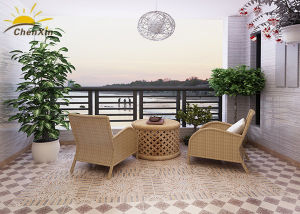 Square Balcony Floor Ceramic Tile Brick Style Low Water Absorption Rate pictures & photos