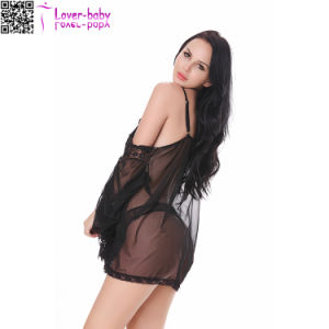 Sexy Lace Fishnet Halter Women Sexy Lingerie L28220-1 pictures & photos