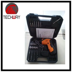 Cordless Screwdriver DC 4.8V 600mA, Ni-CAD Battery with 45PCS Accessories pictures & photos