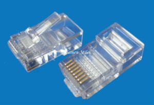 High Quality Cat5e CAT6 Cat7 RJ45 Connector for Stranded Solid Network Cable 8p8c Gold Plated RJ45 Plug with UTP pictures & photos