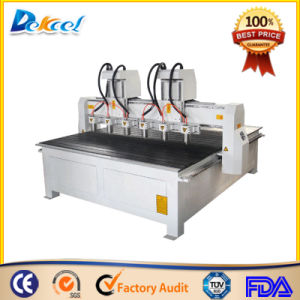 Dekcel CNC Router Multi-Head Prosessing Wood Carving Engraver Machine pictures & photos