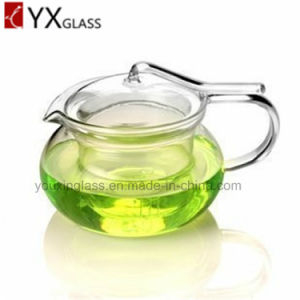 2016 Hot-Selling High Borosilicate Fire Resisitant Clear Glass Teapot Flower Booming Tea Kettle Hand Blow Glass Tea Coffee Sets pictures & photos