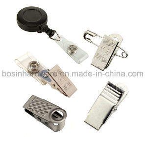 Fashion Metal Badge Clip for ID Card pictures & photos