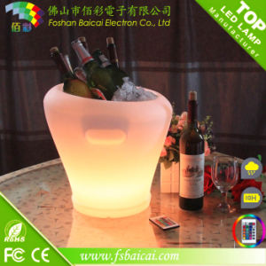 Modern Outdoor Rechargeable RGB LED Wine Cooler pictures & photos