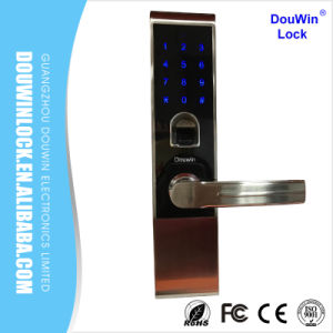 Wireless Remote Control Fingerprint Door Lock with Pin Code pictures & photos
