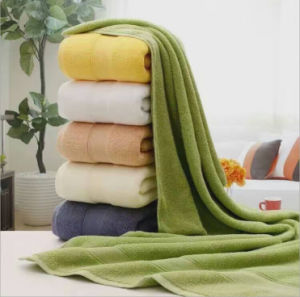 100% Cotton Jacquard Hotel Bathroom Bath Towel Factory pictures & photos