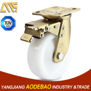 Heavy Duty Double Brake Nylon Caster Wheel pictures & photos