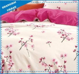 Rose Garden Printed Polyester Quilted Bedding Set pictures & photos