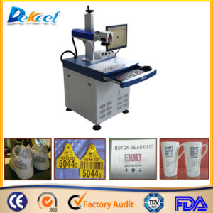Desktop 100*100mm 20W Sale Fiber Laser Marking Shoe/ Plastic Decro/Cup pictures & photos