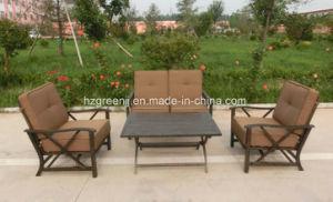 Aluminium Power Coating 4 Pieces Swing Sofa Set Garden Furniture pictures & photos