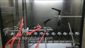 Cosmetic Caps Automatic UV Vacuum Metalizing Spray Painting Line pictures & photos