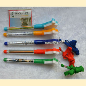Plastic Promotion Pen with Roll out Paper pictures & photos