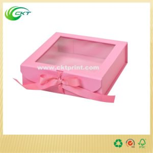 Custom Cardboard Gift Box with Clear PVC Window (CKT-CB-399)