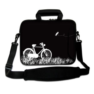 "Black 15""-15.6"" Universal Laptop Bag PC Carry Sleeve Case W/Shoulder Strap, Pocket pictures & photos"