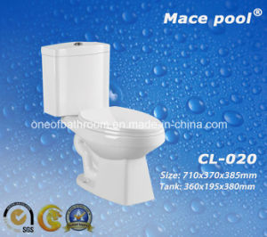 Bathroom Sanitary Ware Two-Piece Toilets Ceramic Water Closet (CL-020) pictures & photos