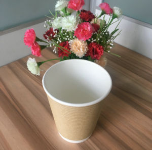 Ripple Wall Paper Cups with Logo Printing pictures & photos