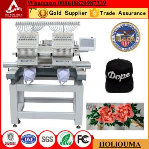 2 Head Flat+Cap+Finished Chain Stitch Embroidery Machine Ho1502 Automatic Commercial Digital Domestic China 2 Double Head Computerized Cap Embroidery Machine pictures & photos
