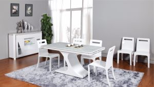 White Modern Desigen Dining Table (CT-198) pictures & photos