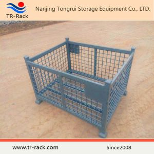 Exported Warehouse Folding Storage Metal Stacking Mesh Container pictures & photos