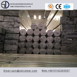 Pre-Galvanized Round Carbon Steel Pipe for Building Materials pictures & photos