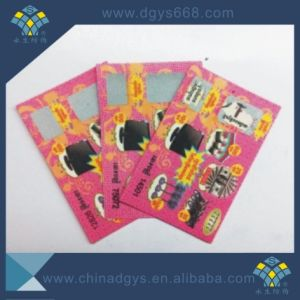 Customized Design Security Scratch off Lottery Card with Serial Number pictures & photos