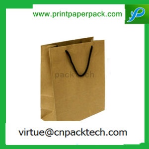 High Quality Recycle Grocery & Sos Brown Paper Carrier Bag with Logo pictures & photos
