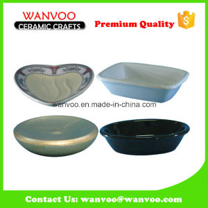 Bath Accessory Ceramic Soap Dish of Different Shape pictures & photos