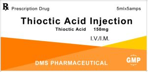 Thioctic Acid (Lipoic Acid) Injection 150mg GMP Factory pictures & photos