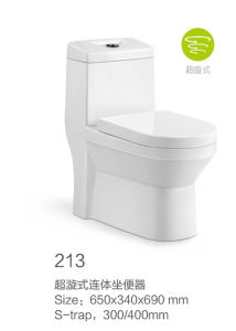 213 Siphonic One-Piece Toilet New Model pictures & photos
