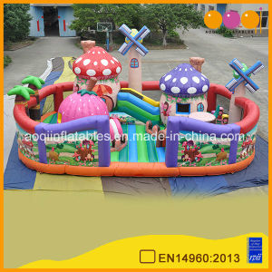 Aoqi New Design Inflatable Windmill Village Fun City for Kids (AQ01683) pictures & photos
