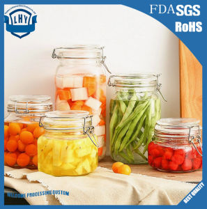Rectangle, with a Lid Kitchen Sealed Glass Storage Jar pictures & photos