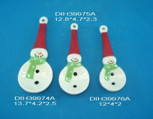 Set of 3 Ceramic Measuring Spoon with Snowmen Design pictures & photos