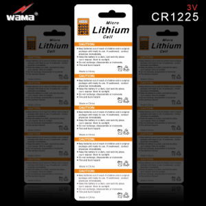 Wama Brand 3.0V Lithium Button Cell Cr1225 pictures & photos